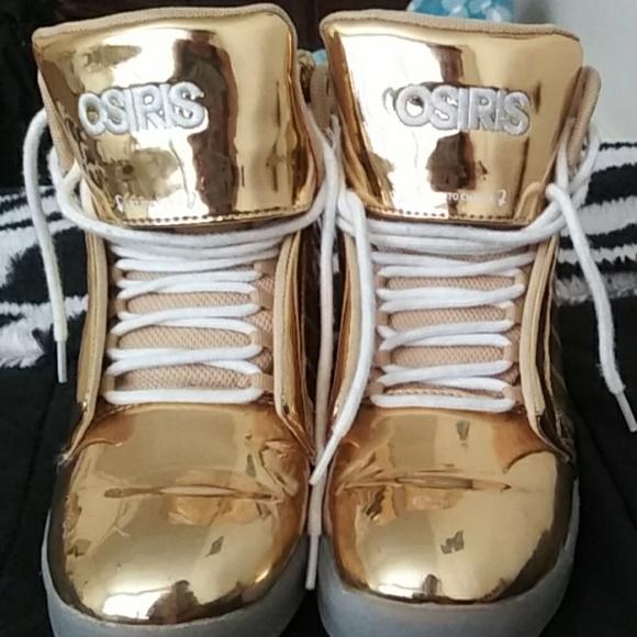 Osiris Shoes | Gold Osiris Hightops